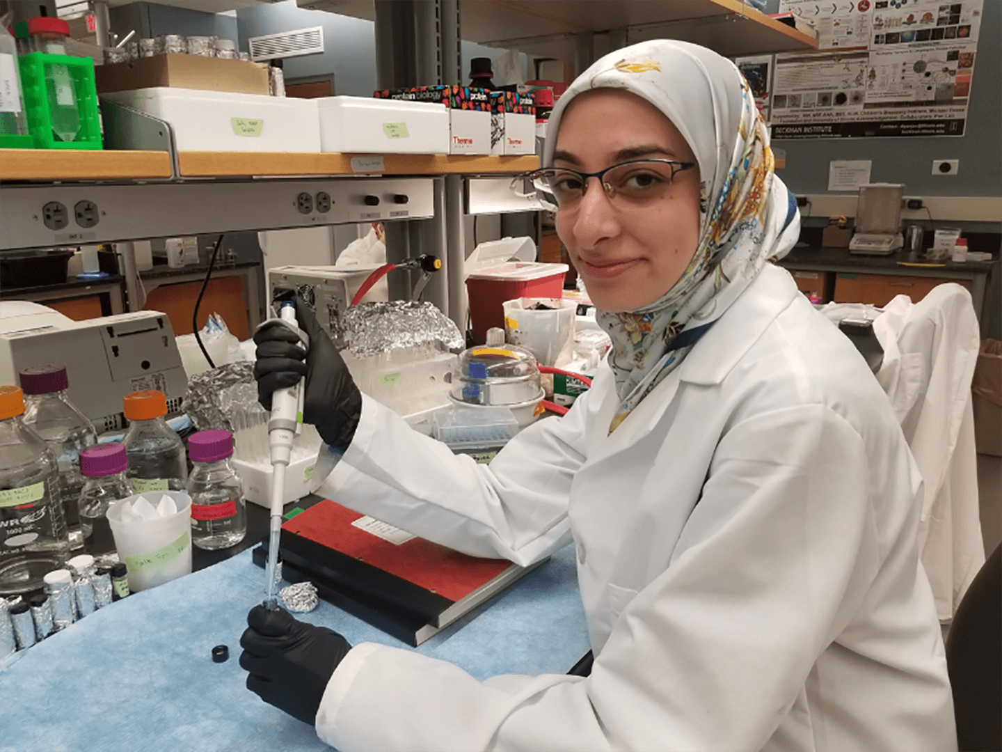 Student Researcher Testing Samples