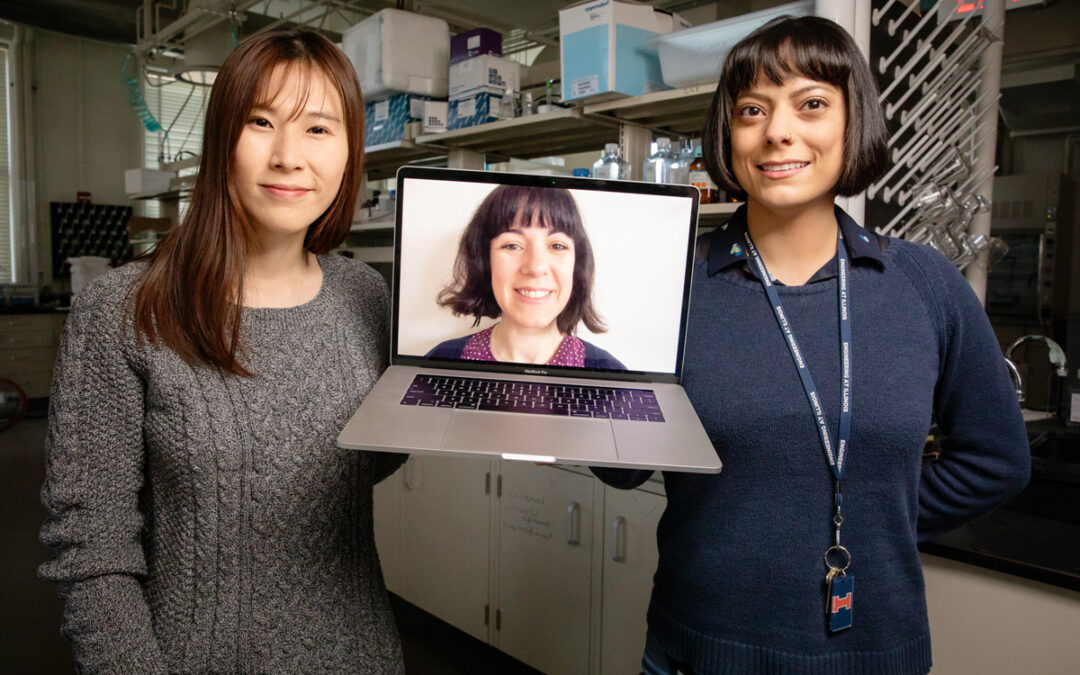 Professor Cecilia Leal, center, and graduate students Mijung Kim, left, and Marilyn Porras-Gomez
