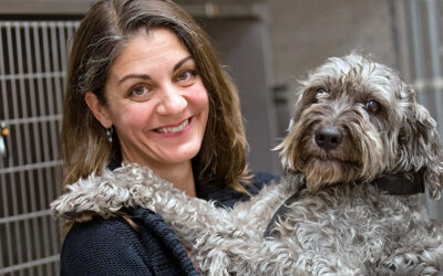 Image of Kim Selting with dog