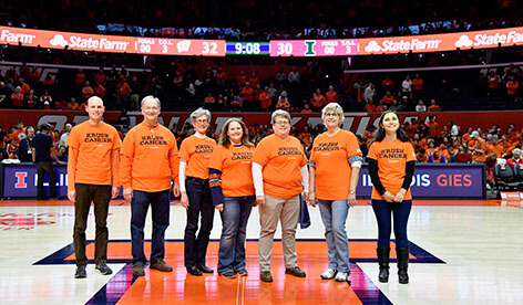 """Teaming Up to """"Krush Cancer"""": CCIL and Illini Basketball Highlights"""