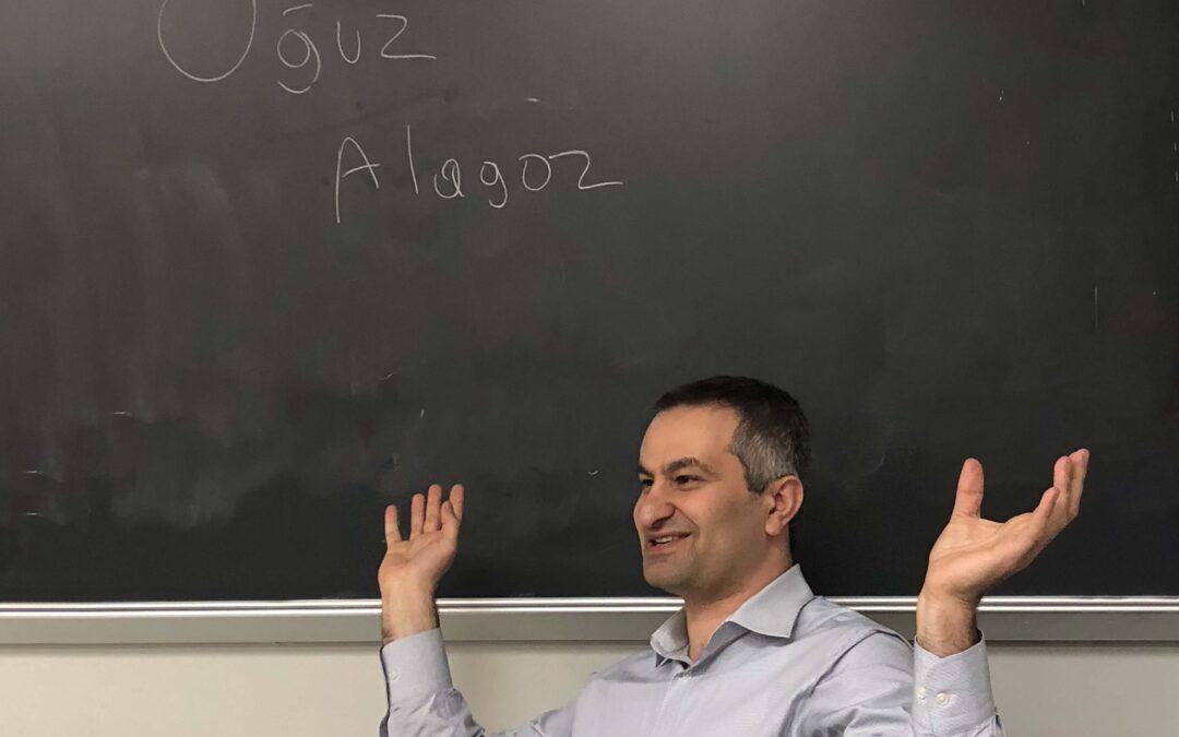 Dr. Oguzhan Alagoz Speaks to Time Students