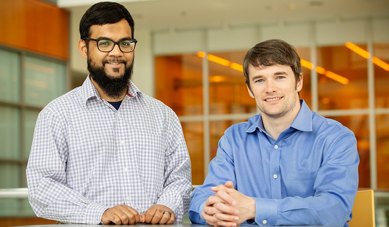 Image of Mohammad Zahid with Andrew Smit.