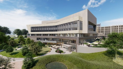 Rendering of new OSF Cancer Institute building